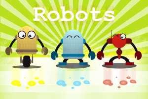 Tableau enfant robots