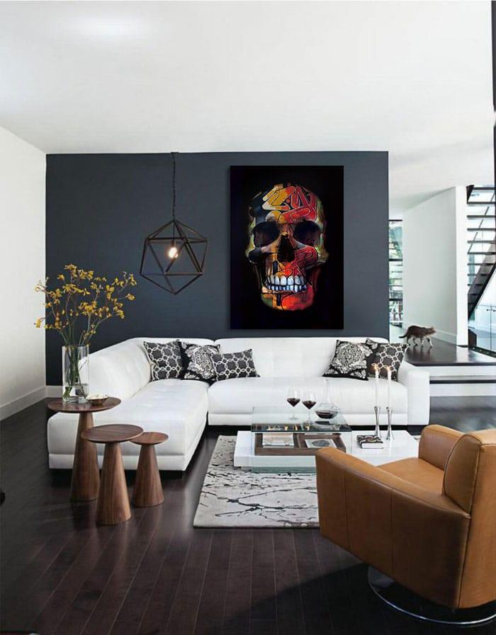 salon avec un tableau design