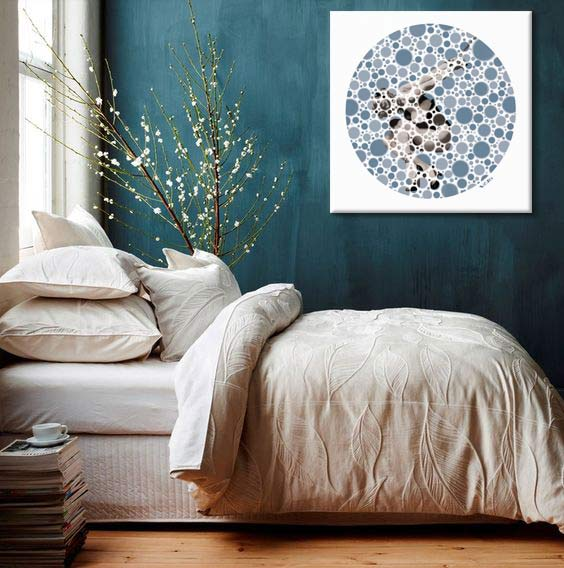 decoration murale bleu canard blog izoa