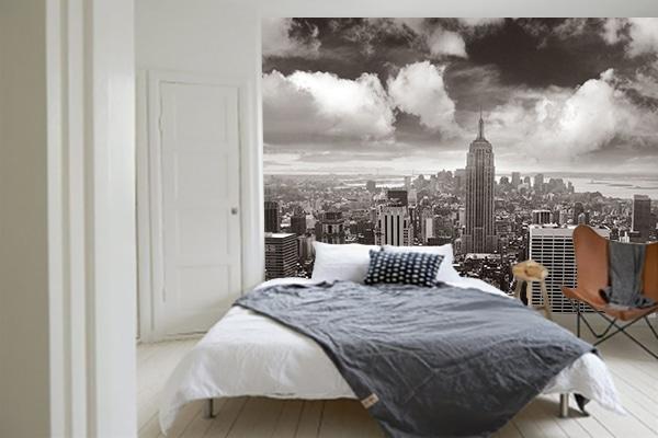 papier peint chambre new york noir et blanc