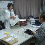 まちゼミ事務局で 松井先生、宮城さん 打合せ