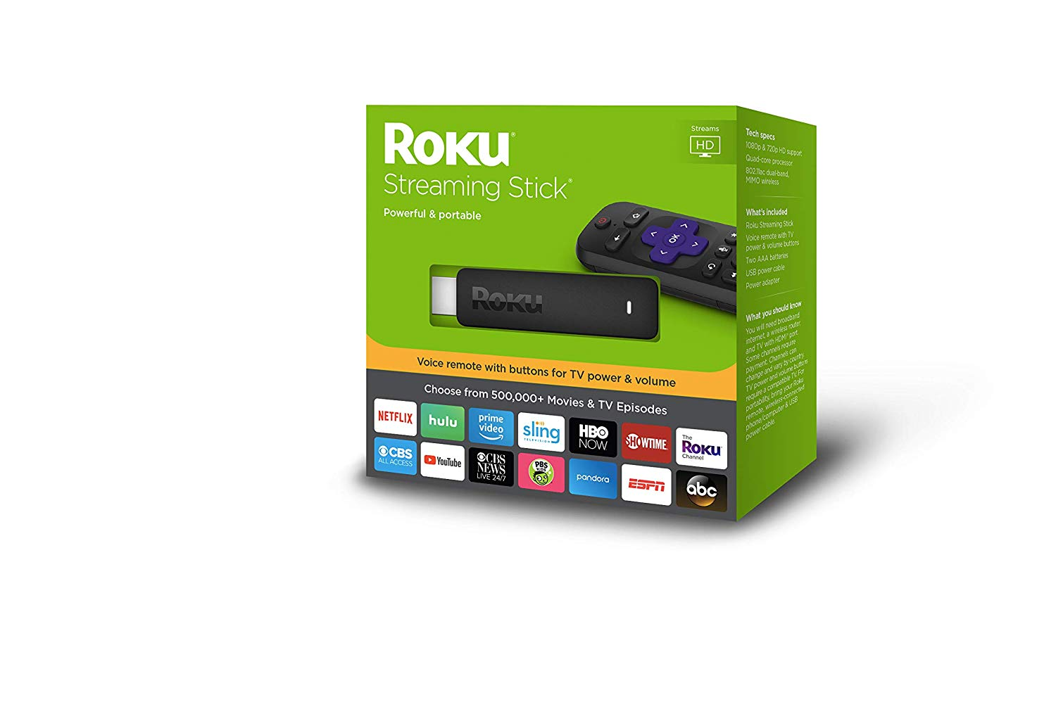Roku Streaming Stick with voice remote 2017 Model (Model 3800) -  Izzudrecoba Store