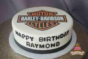 (174) Harley Davidson Birthday Cake