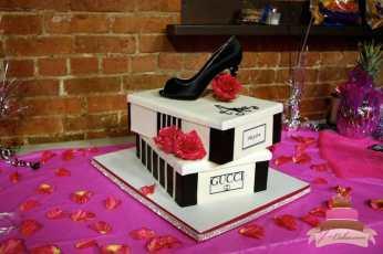 (116) Tiered Shoebox Birthday Cake
