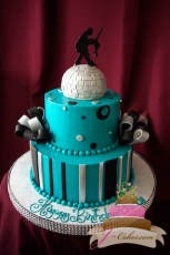(152) Dancing Theme Birthday Cake