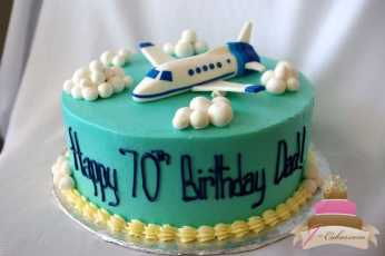 (153) Airplane Birthday Cake