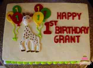 (495) Sophie the Giraffe Theme Cake