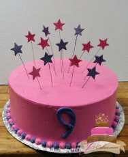 (408) Star Birthday Cake