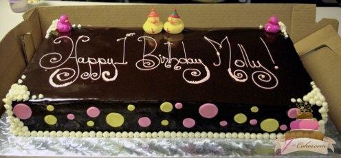 (412) Rubber Ducky Birthday Cake