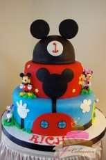 (428) Mickey Mouse Clubhouse 1st Birthday Cake