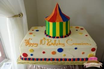 (438) Circus Tent Birthday Cake