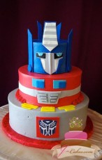(454) Transformers Birthday Cake