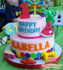 (460) Very Hungry Caterpillar Tiered Birthday Cake