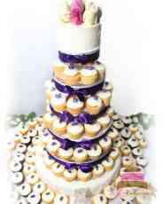 (602) Buttercream Rosebud Cupcake Tower