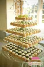(633) Buttercream Rosebud Square Cupcake Tower
