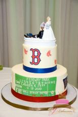 (722) Boston Red Sox Tiered Groom's Cake