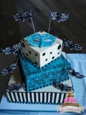 (901) Masquerade Sweet 16 Cake