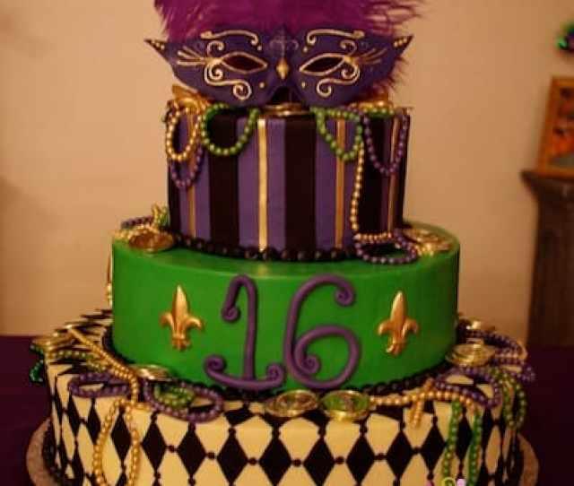 Mardi Gras Sweet  Cake