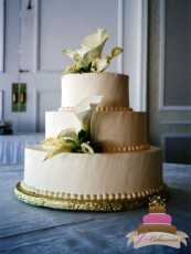 (1015) Calla Lily Cluster Wedding Cake