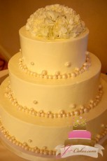 (1051) Pearl Border Wedding Cake