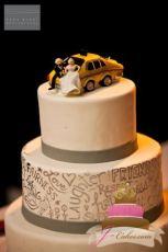 (1083) Taxi Cab Wedding Cake