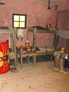 【国立ローマ軍博物館およびローマ遺跡群】ローマ時代の兵舎を再現