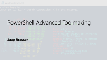 PowerShell Advanced Toolmaking