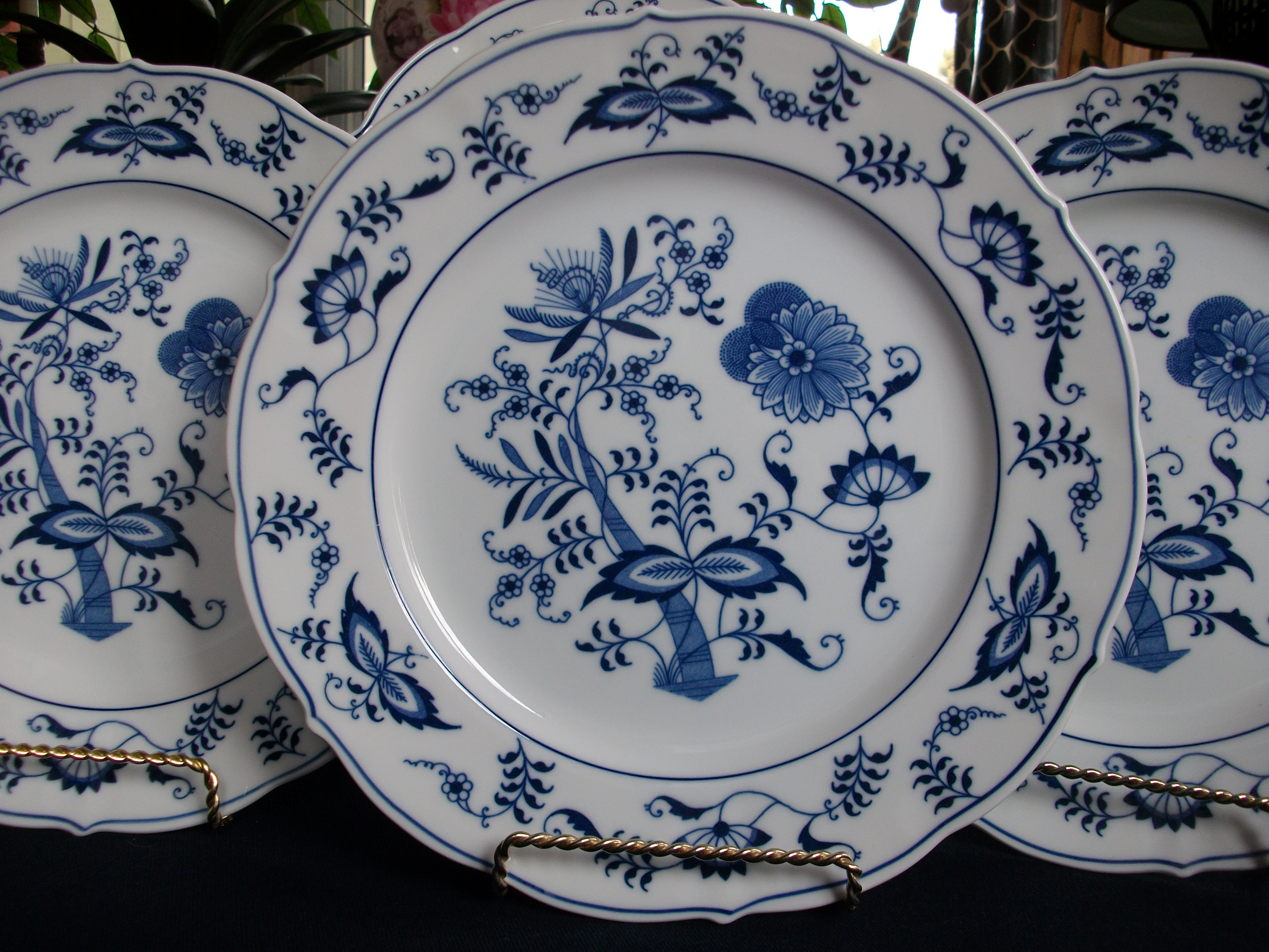 BLUE DANUBE DINNER PLATE & BLUE DANUBE- BLUE ONION (c.1977+) DINNER PLATE(s)- RECTANGLE STAMP ...