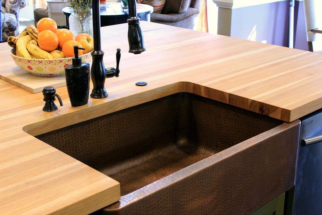 wood countertops with sinks j aaron
