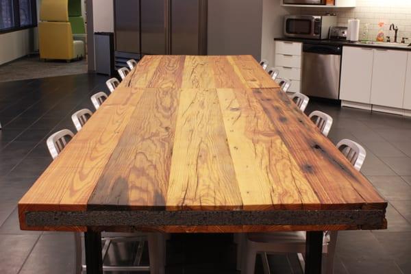 Reclaimed Heart Pine Table Top 5 J Aaron