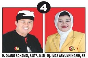 Pasangan calon Bupati Subang Ojang-Imas (Photo: subang.go.id)