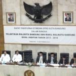 Sidang Paripurna Istimewa DPRD Kota Bandung dalam Rangka Pelantikan Walikota dan Wakil Walikota Bandung Masa Bakti 2013-2018