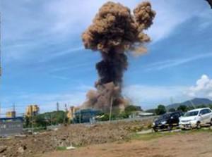 ledakan pabrik baja cilegon