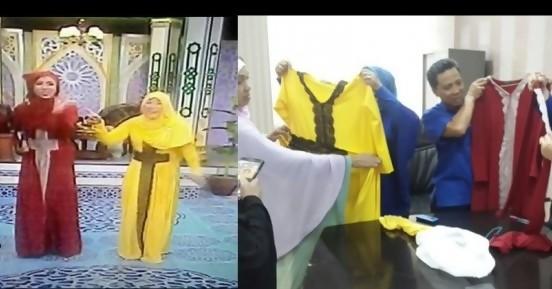 Acara Sahur Ramadhan Di Tvri Presenternya Berpakaian Muslimah Bergambar Salib