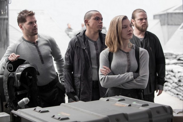 Cressida (played by Natalie Dormer) and the rest of Katniss Everdeen's television crew, as visualized by the movie.