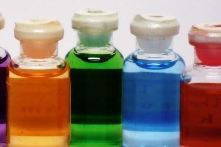 Receta de aceite de baño a capas