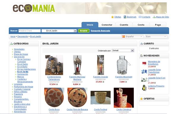 Tienda on-line de Ecomania