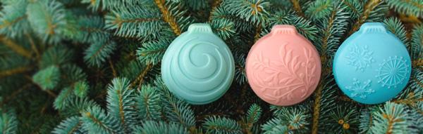 Molde para jabón bolas de navidad