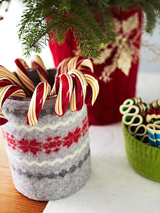 Decoración de caramelos navideña