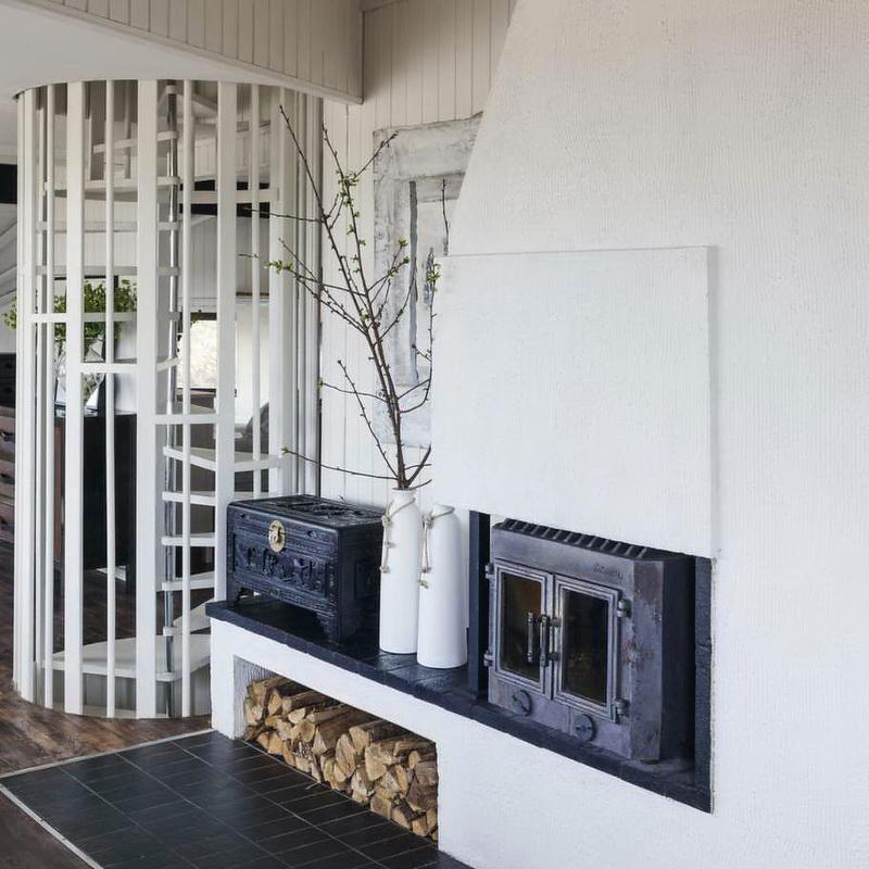 Casa en Suecia - chimenea