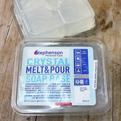 Base de jabón de glicerina transparente sin SLS