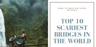 Top 10 Scariest Bridges In The World, Suspension Glass Bridge , Longjiang Suspension Bridge, Titlis Cliff Walk Swiss Alps, Kuandinsky Bridge, Vine Bridge, Trift Bridge, Carrickarede Rope Bridge, Capilano Suspension Bridge, Langkawi Sky Bridge, Puente De Ojuela