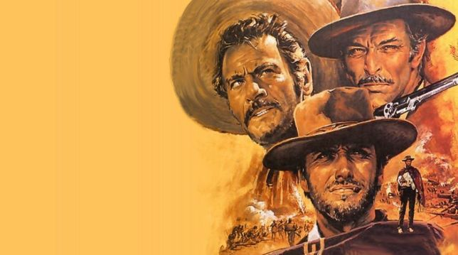 The art for The Good, The Bad, and The Ugly; a Western movie by Sergio Leonne.