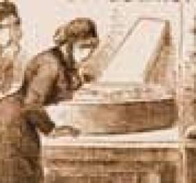 A newspaper image showing murder victim Rose Mylett in her coffin.
