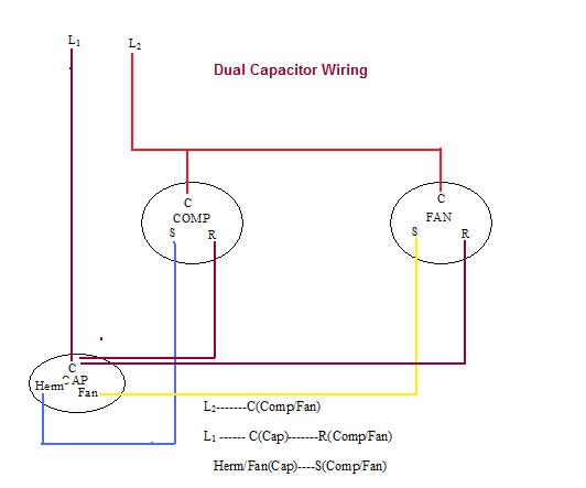 air compressor capacitor wiring diagram  battery wiring