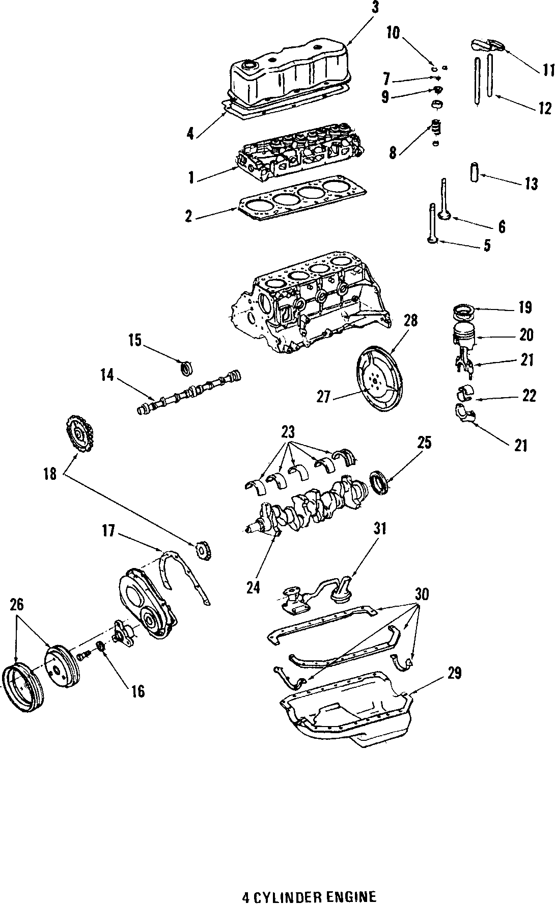Pontiac Firebird Engine Crankshaft Seal Front Rear All