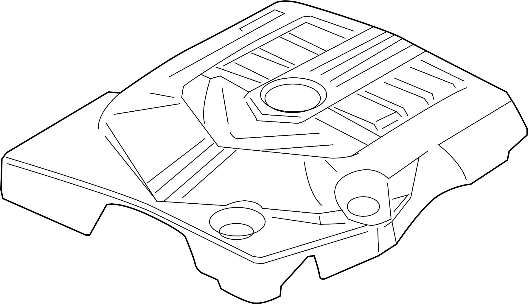 Cadillac Srx Engine Cover 3 6 Liter