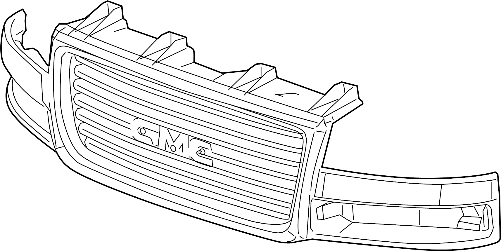 Gmc Savana Grille Upper Lower Gmc W Chrome