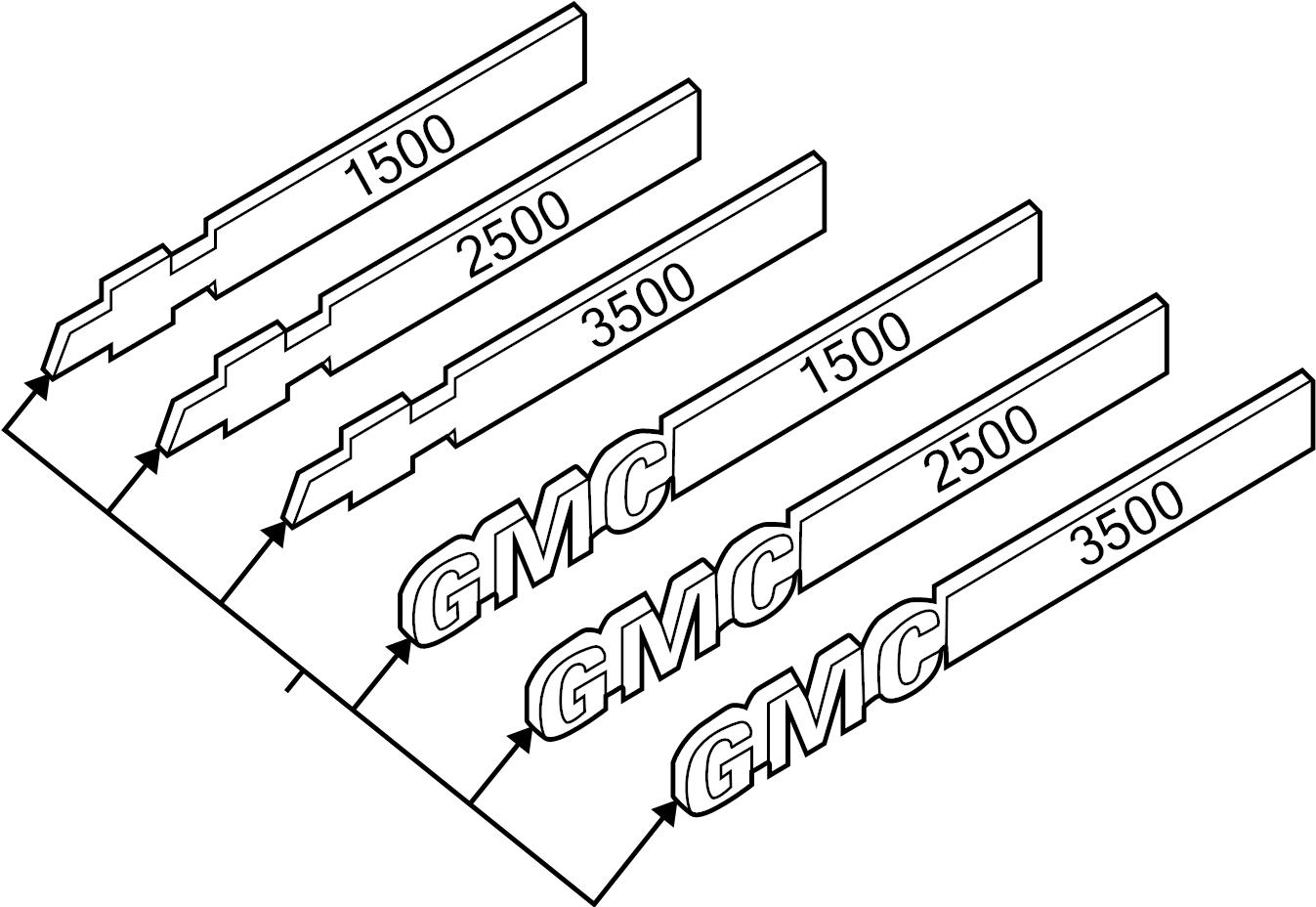 Gmc Savana Door Emblem Body Side Package