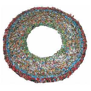 Verena Sieber-Fuchs Collar 2004; metal foil, thread